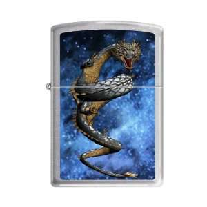 Dragon Galaxy Brushed Chrome Lighter, 3541