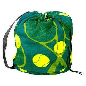 Anti pill Tennis Fleece Sling Pack Bag   Green (Brand New