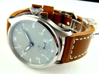 Parnis 47 mm dial the number of gray white cell phone mechanical watch