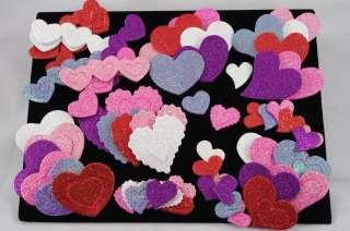Kids Crafts   Valentine Heart Foam Glitter Stickers (130 140+)