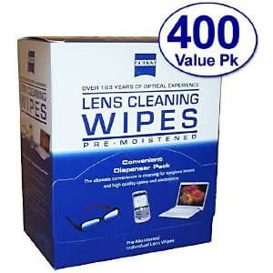 Zeiss Pre Moistened Lens Cloths Wipes 400 Ct Health