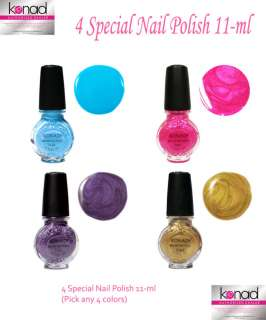 KONAD Nail Art PICK 4 SPECIAL NAIL POLISH COLORS