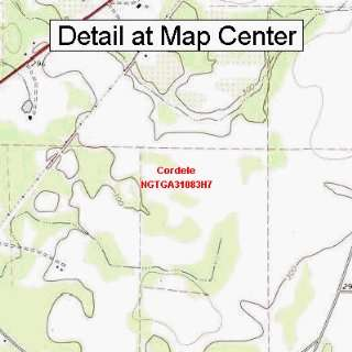 USGS Topographic Quadrangle Map   Cordele, Georgia (Folded/Waterproof