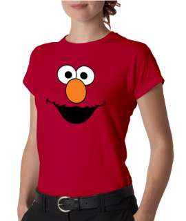 Elmo Face Sesame Street Ladies Tee Shirt
