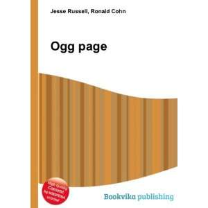 Ogg page Ronald Cohn Jesse Russell Books