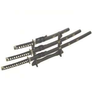 3pc Set Bushido Samurai Sword Set (#K0021 4B) Everything