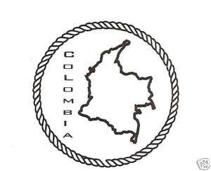 TEACHERS COLOMBIA GEOGRAPHY PASSPORT RUBBER STAMP 6012