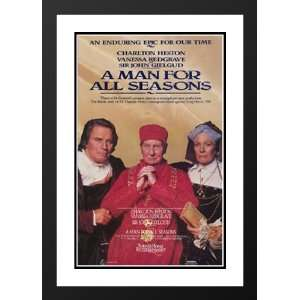 A Man For All Seasons 20x26 Framed and Double Matted Movie
