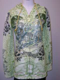 Christian Audigier Twin Panther Specialty Hoodie NWT S