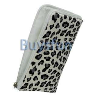 New Leopard Zipper Case Bag Wallet Pouch for Apple iPhone 4 4G 4S 3G