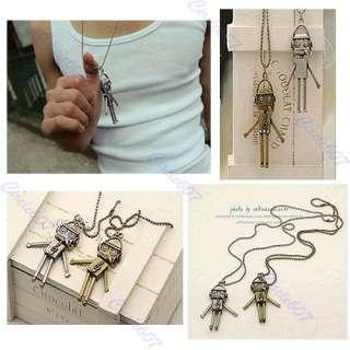 Fashion Ancient Style Cute Robot Notes Necklaces Pendants