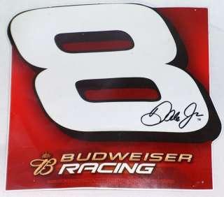 DALE EARNHARDT JR NASCAR #8 BUDWEISER RACING STICKER VF