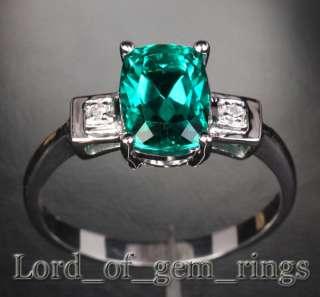 & DIAMOND   Solid 14K WHITE GOLD ENGAGEMENT Wedding RING FASHION NEW