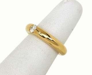DESIGNER CARTIER 18K GOLD DIAMOND SOLITAIRE BAND RING