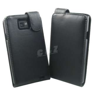 Leather Case Pouch + Film Samsung Galaxy S II i9100 j