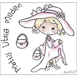 Crafters Companion S.W.A.L.K. Little Madame Rubber Stamps