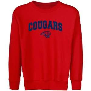 com Houston Cougar Hoodie Sweatshirt  Houston Cougars Youth Red Logo