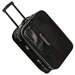 Rockland Polo Black Crocodile 4 piece Luggage Set