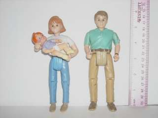 Fisher Price Family Dollhouse People Figure Lot Dad & Mom that Rocks