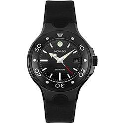 Movado Womens Series 800 Black Thermoresin Strap Watch