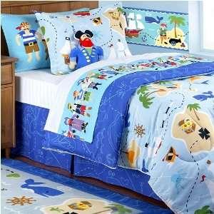 Olive Kids Pirates Full Size Comforter 8PC Bed In A Bag Set BD PIRA
