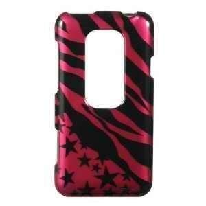Black Pink Zebra Stars HTC EVO 3d (Sprint) Premium Snap on