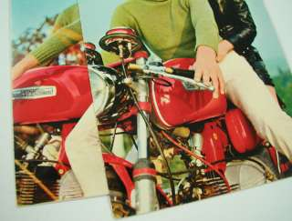 VINTAGE 1970s ITALIAN POST CARDS COUPLE ON AERMACCHI HARLEY DAVIDSON