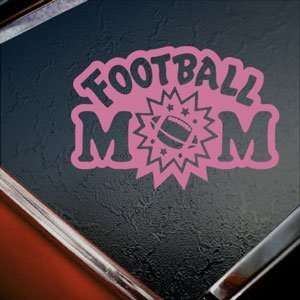 Football Mom Pink Decal Car Truck Bumper Window Pink