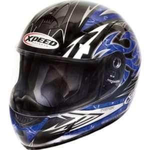Xpeed Torture XP507 On Road Motorcycle Helmet   Blue/Black