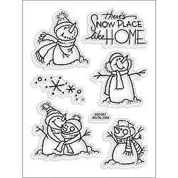 Stampendous Perfectly Clear Theres Snow Place Like Home Stamp Sheet