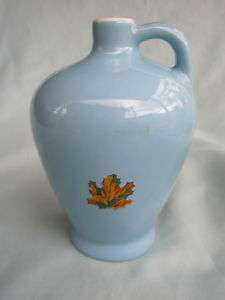 Vintage Coorsite Coors CA Pottery Blue Maple Syrup Jug