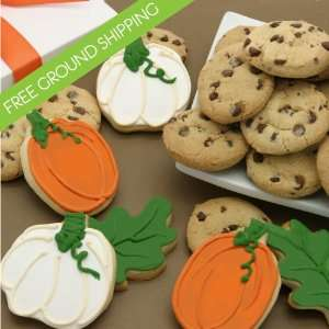 Autumn Harvest Duo Cookie Gift Box   FREE GROUND SHIPPING: