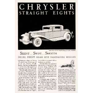 1931 Ad Antique Chrysler Straight Eight Coupe Dual High