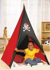 NEW RED BLACK INDOOR PLAY TENT W/ CASE GREAT GIFT IDEA