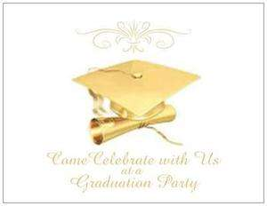 20 Gold GRADUATION Party Invitations Post Card CARDS