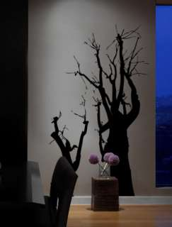 Vinyl Wall Art Decal Large Spooky Tree Silhouette