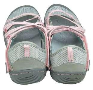 Trail Womens Walking Water Shoes GENESIS VEGAN Gray Pink Size 9