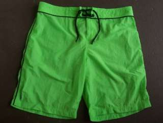 Mens Ralph Lauren Polo Lime Green Nylon Swim Trunks Board Shorts