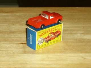 Matchbox Lesney No. 71 Jeep Gladiator Pick Up Truck in Box, 1964 NM