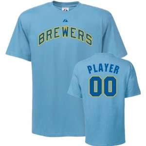 Milwaukee Brewers T Shirt Any Player Cooperstown Name and