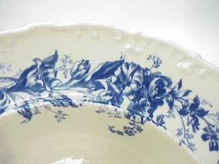 ANTIQUE WEDGWOOD FLOW BLUE~HUGE 13 BOWL~FLORAL england