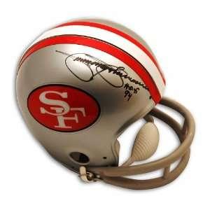 Jimmy Johnson Autographed San Francisco 49ers Throwback Mini Helmet