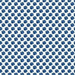 PAW PRINT WHITE & NAVY PATTERN Vinyl Decals 3 Sheets 12x12