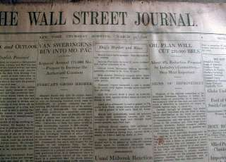 STOCK MARKET CRASH newspapers 1929 WALL STREET JOURNAL 1987 Baltimore