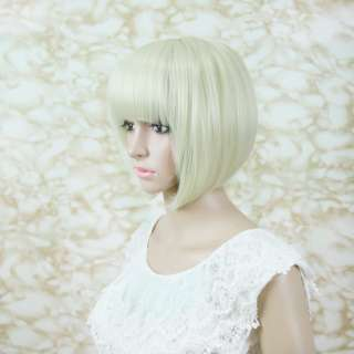 Real feel Short brown BOB Kanekalon custumes hair wig
