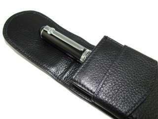 duke black gentleman fountain pen in high quality W/ LEATHER PEN CASE