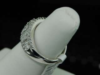 LADIES WHITE GOLD DIAMOND WEDDING BAND RING 1.51CT PAVE
