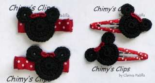 Minnie Mouse Handmade Hair Clips Chimys Clips M2M |
