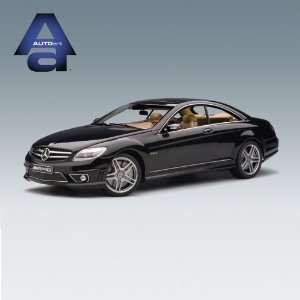 AUTOart Mercedes Benz CL63 AMG, Black, w/Leather Seats Die