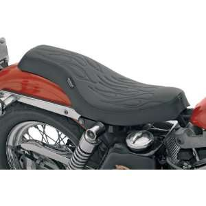 com Drag Specialties Flame Stitched Spoon Motorcycle Seat For Harley